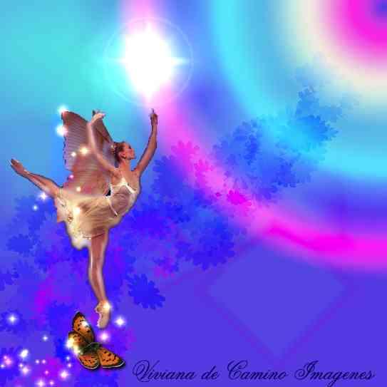 Imagenes de Hadas Hada de la mariposa hacia un arcoiris